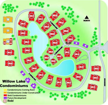 Willow Lake Crossing Lot Map